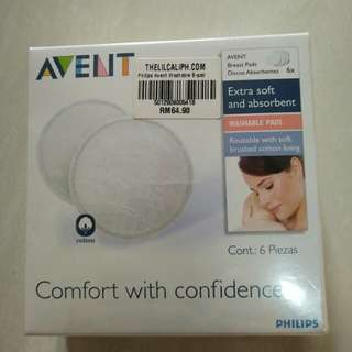 Price reduced! Free shipping! Avent washable breast pad (6pcs)