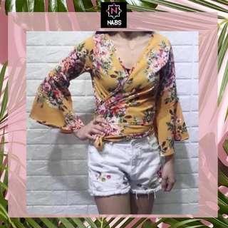 KHRISTA floral top