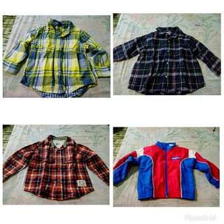 Baby gap, Carter's, Genuine kids, Athletic works, 3 long sleeves polo and 1 jacket for toddlers