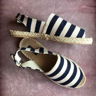 Striped Slingback Espadrilles(Perfect For Summer OOTD)