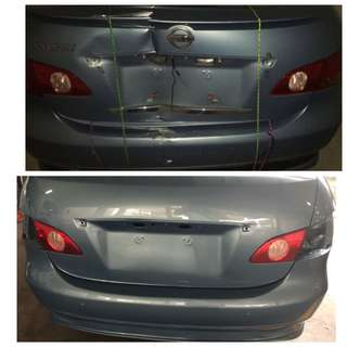Car bodywork repair