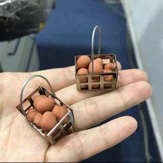Handmade Miniature eggs on aluminium basket @ $8 each