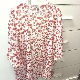 🚚 降價❗️H&M夏日玫瑰罩衫