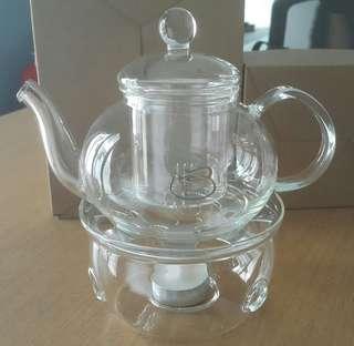 Borosilicate teapot & warmer