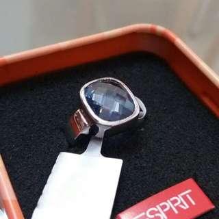 Esprit水晶純銀戒指 全新