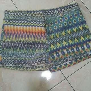 Aztec Print Shorts