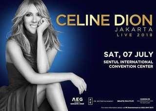 Tiket konser Celine Dion di Jakarta