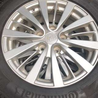 "Proton Inspira 16"" tyre and wheel for sell"