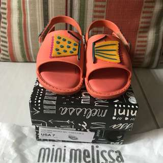 Mini Melissa Sandals Size 7