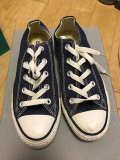 Converse All Star Blue Canvas Shoes Sz 3.5