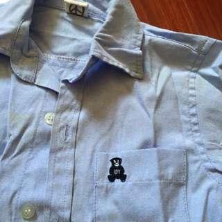 淺藍短袖襯衫