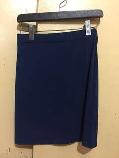 Blue Pencil Skirt