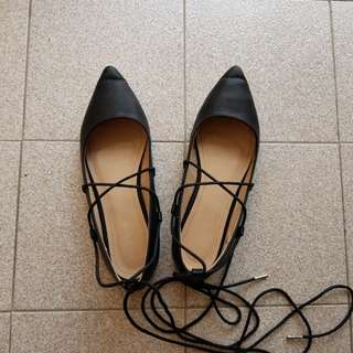Lace Up Flats Zalora