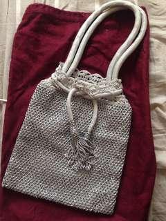 Chic Crotchet and beaded mesh handbag Pouch