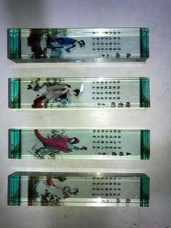 中國四大美人 玻璃擺設
