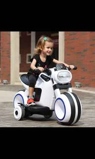 Futuristic electric Kids Motorbike