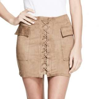 BNWT Guess Lace-Up Mini Skirt
