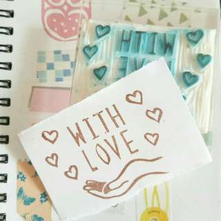 Preloved rubber stamp - With Love