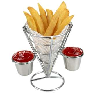 French Fry Holder with Double Sauce Stand