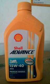 Oli shell u/motor advance 5&7