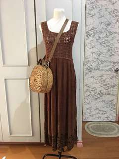 Crochet dress/ beach cover up fits up to M