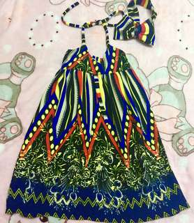 MA Maxi Dress with headpiece for toddler kids