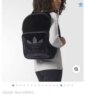 Limited Edition Velvet Vibes Black Adidas Logo Backpack