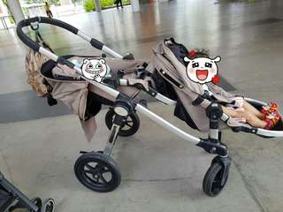 City Jogger Double Stroller With Free Buggy stand/Board
