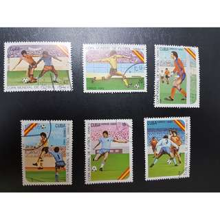 1982 World Cup Football Stamp  6v