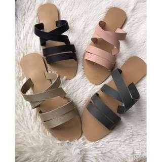 flats sandals criss cross strap Item code: c1016