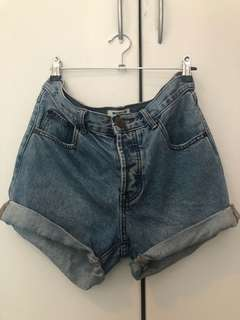 Denim over sized shorts