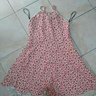 Forever21 Floral Boho Halter Dress