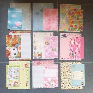 全新絕版 Sanrio Hello Kitty各款信紙信封 - 全新  - 每套有一個信封,二張信紙 $3 一套