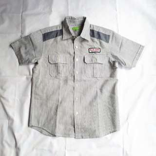 Bossini Boy's woven shirt (size 140) - with small tear on front pocket