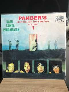 Vinyl Piringan Hitam Panbers - Volume 1 Kami Tjinta Perdamaian