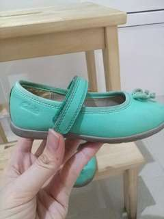 Clarks First Shoes (green)