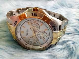 Fossil  Chronograph  Watch  2 tone