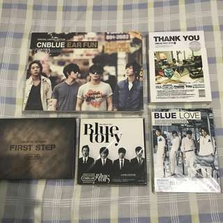 CN BLUE 專輯 Blue tory、Blue Love、Thank you、First step、Ear fun