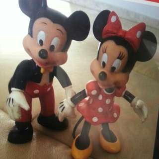 Mickey Mouse & Minnie Mouse- 12cm