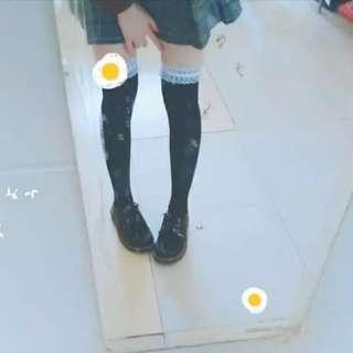 日系高筒襪