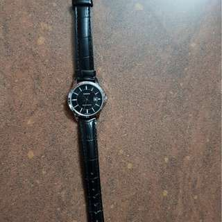 Casio Ladies' Black Leather Strap Watch LTP-V004L-1A