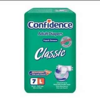 Popok Dewasa Confidence Adult Classic Pampers L7 M8