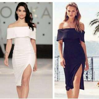🍃Formal Off Shoulder Slit Dress
