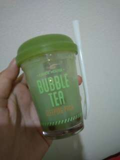 Etude House Bubble Tea Slepping Pack - Green Tea Variant