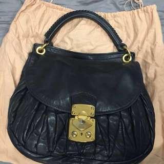 Miu Miu Black Nappa Handbag