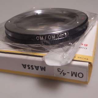 Brand New Olympus OM to 4/3 Lens Adapter (with AF confirm chip)