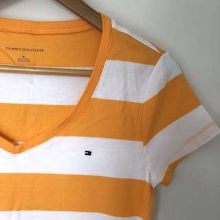 (New) Genuine Tommy Hilfiger striped tee (M)