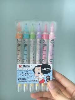 Brand new colourful highlighter markers with highlighter tips