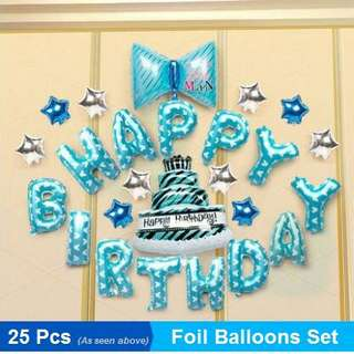 BN FREE MAIL Happy Birthday Balloons Party Set