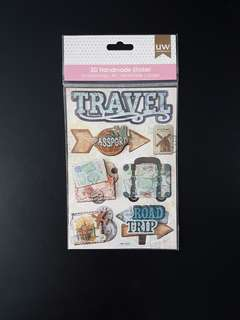 BN 3D Pop-up Stickers for Scrapbook -  Travel (Design 2)